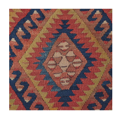 Coussin Kilim Antique Losanges Multicolore