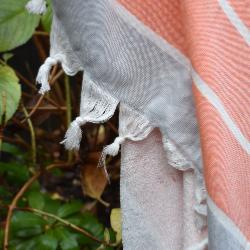 Fouta Orange doublée éponge