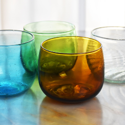 Verre Rond Turquoise
