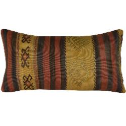 Coussin Nomade Vintage Rectangulaire Rayé Tricolore