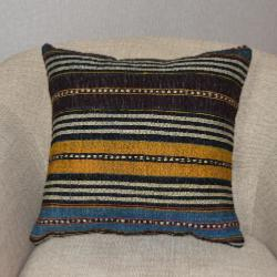 Coussin  Kilim Antiques Rayures Multicolores