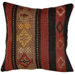 Coussin Nomade Vintage Rayé Tricolore