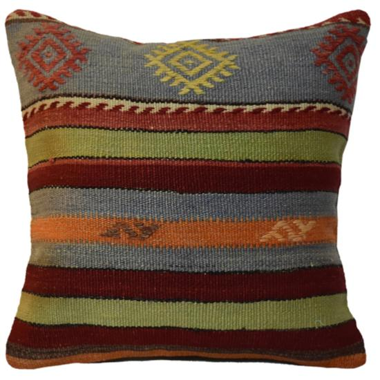 Coussin Nomade Vintage Rayé Multicolore