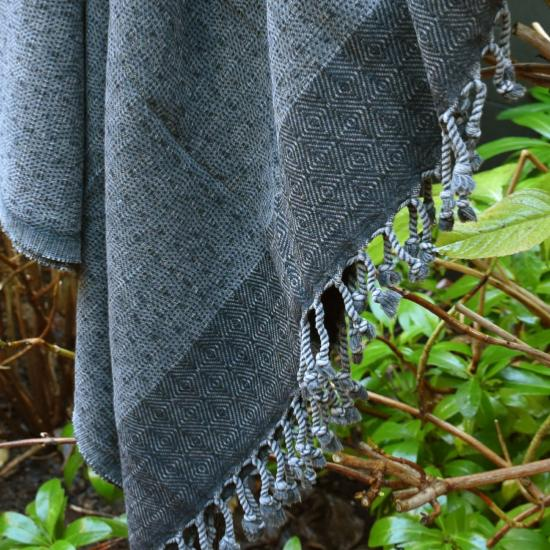 Fouta stone washed  anthracite